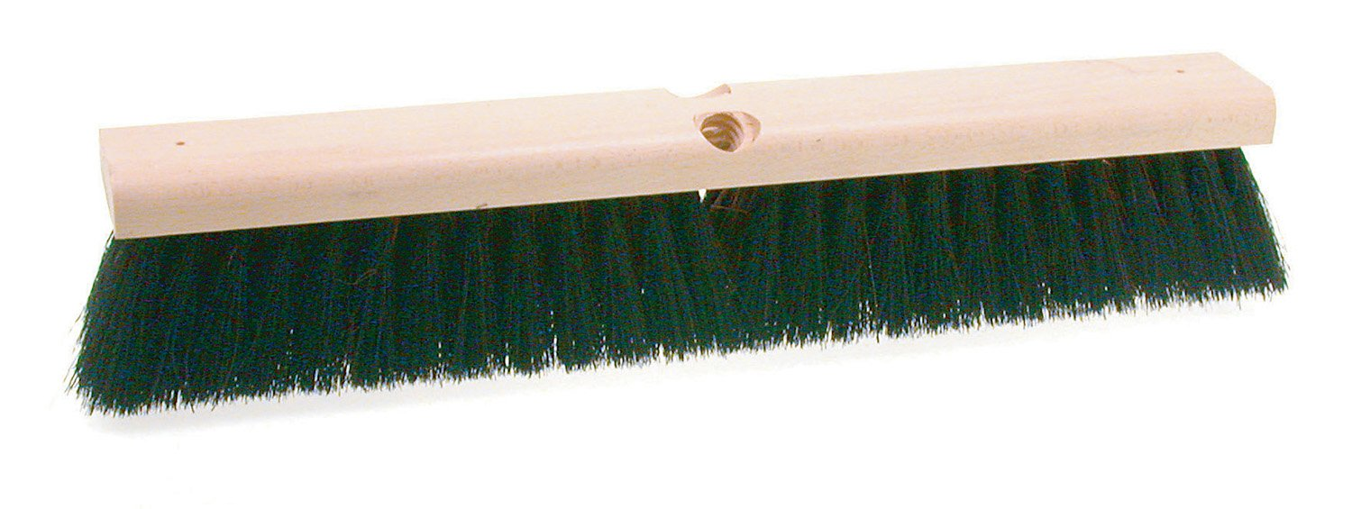 Osborn 81248SP Economy Broom Head, Coarse Sweeping, Palmyra and Black Tampico Mix, 30'' Block Length, 2-3/4'' Trim Length, Brown
