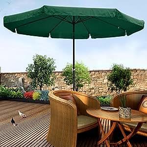 """triprel Inc. 10""""pies de aluminio al aire libre Patio paraguas Patio jardín mercado w/cama manivela inclinable), color verde"""