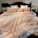 Fancy feather french romantic handmade petals60cotton bedding princess wind three-dimensional lace four-piece set-A King