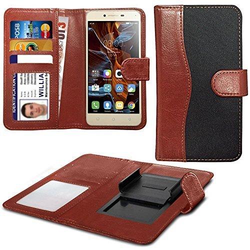 N4U Online Black Clip On Dual Fibre Book Wallet Case Cover For Sharp Aquos...