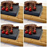Big Sizzling Steak Stone Platter Set of 4