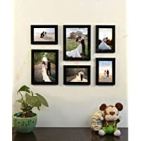 Painting Mantra Art Street Decorous Wood Wall Photo Frame (Black,Set of 6 Wall Photo Frames)
