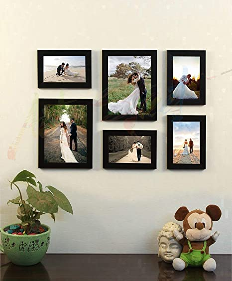 Art street Decorous Black Wall Photo Frame - Set of 6 Individual Photo Frame Photo Frames at amazon