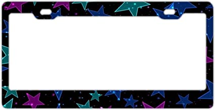 License Plate Frame for Women,Car Licenses Plate Covers Black License Tag Aluminum Metal