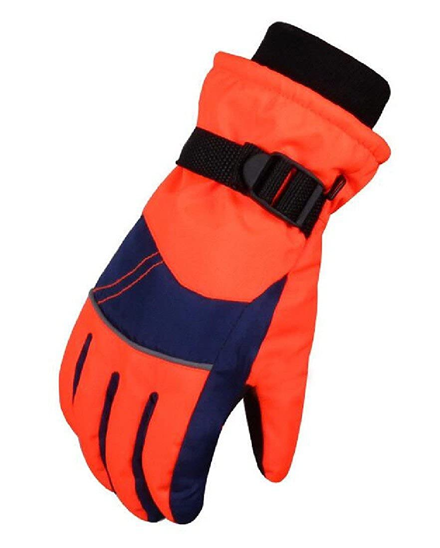 Kankanluck Girls Boys Thickened Windproof Ski Full Fingers Waterproof Gloves