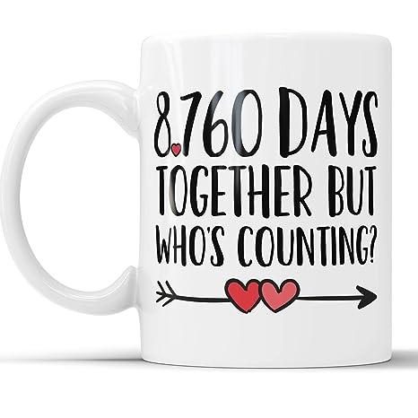 Amazoncom 24th Anniversary Coffee Mug 8760 Days Together