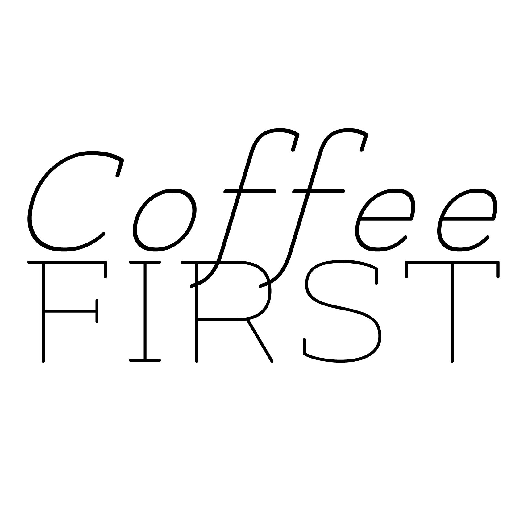 Coffee First Quote - Vinyl Wall Art Decal for Homes, Offices, Kids Rooms, Nurseries, Schools, High Schools, Colleges, Universities, Interior Designers, Architects, Remodelers