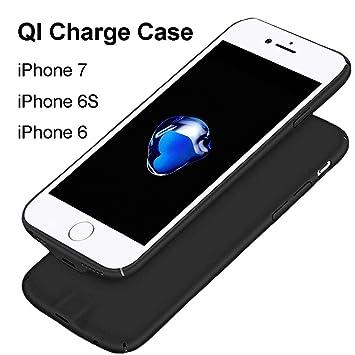 Hoidokly Receptor iPhone 7/6 /6s Funda Receptor Cargador Inalámbrico para Puede Ser la Carga por el Sin la Eliminación de la Carcasa