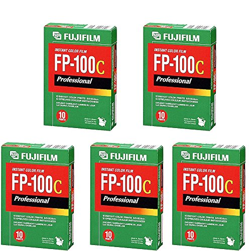 FujiFilm Fuji FP-100C Instant Color 10 Exposure – 5 Pack