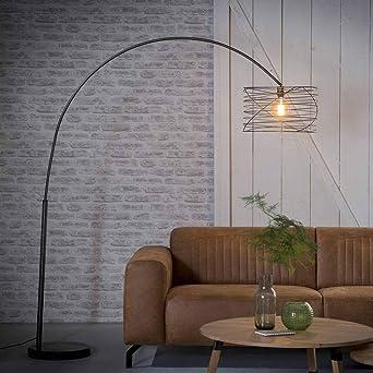 LED DESIGN Stehlampe Bogen Standleuchte Wohnzimmer Decken-Fluter 180cm Büro Flur