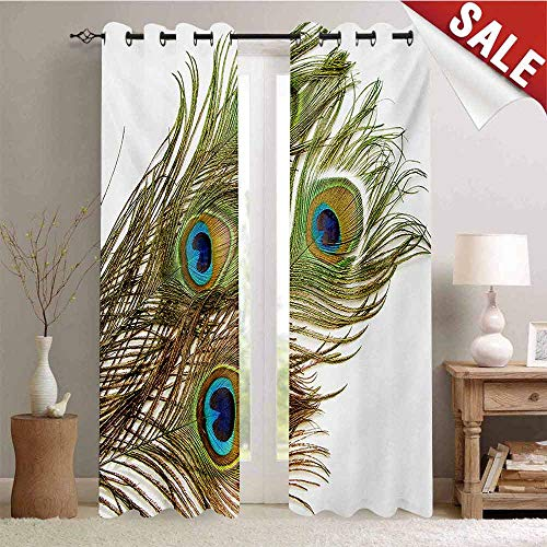 Hengshu Peacock Room Darkening Wide Curtains Macro for sale  Delivered anywhere in Canada