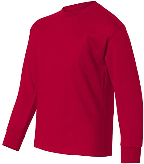 803c4a56 Amazon.com: Hanes Boys 6.1 oz. Tagless ComfortSoft Long-Sleeve T ...