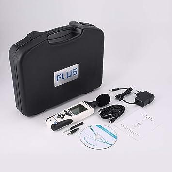 FLUS ET-958 Medidor de nivel de sonido digital Probador de ruido Decibel Logger Medición