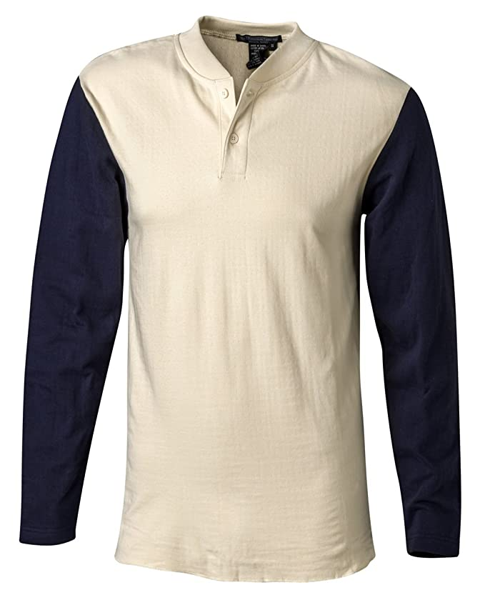 1940s Style Mens Shirts Authentic Baseball Sleeves $56.35 AT vintagedancer.com