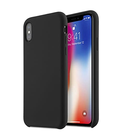 Image Unavailable. Image not available for. Color  Melkco Aqua Silicone Case  for Apple iPhone X - (Black) d737c7f1f8