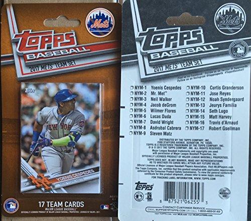 2017 Topps Factory New York Mets Base Team Set 17 Cards David Wright Jose Reyes Neil Walker Matt Harvey Michael Conforto