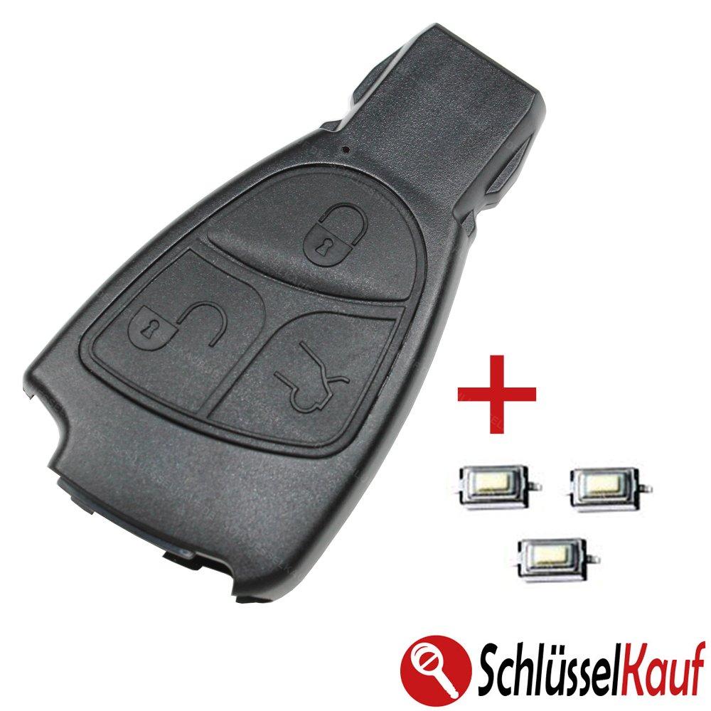 Mercedes Benz 3 botones llave Carcasa Repuesto Juego de ...