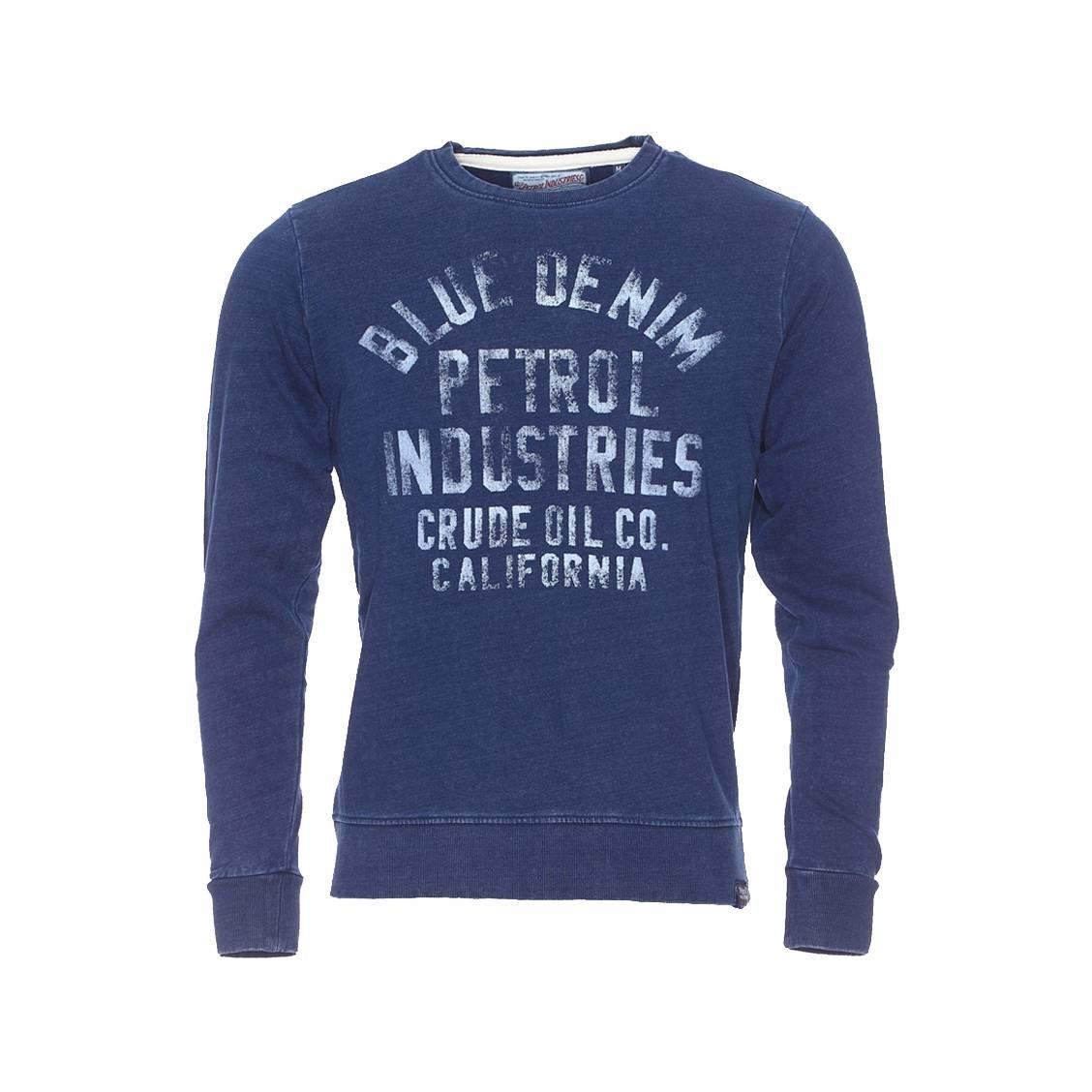 Petrol Industries Herren Oberteile   Pullover Blau Denim