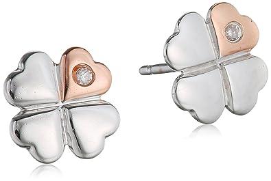 D for Diamond Clover Stud Earrings fgsm3QG