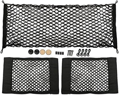 kilofly 3/Elastic Auto hinten Trunk Cargo Net Mesh-Tasche Aufbewahrung Organisatoren Set
