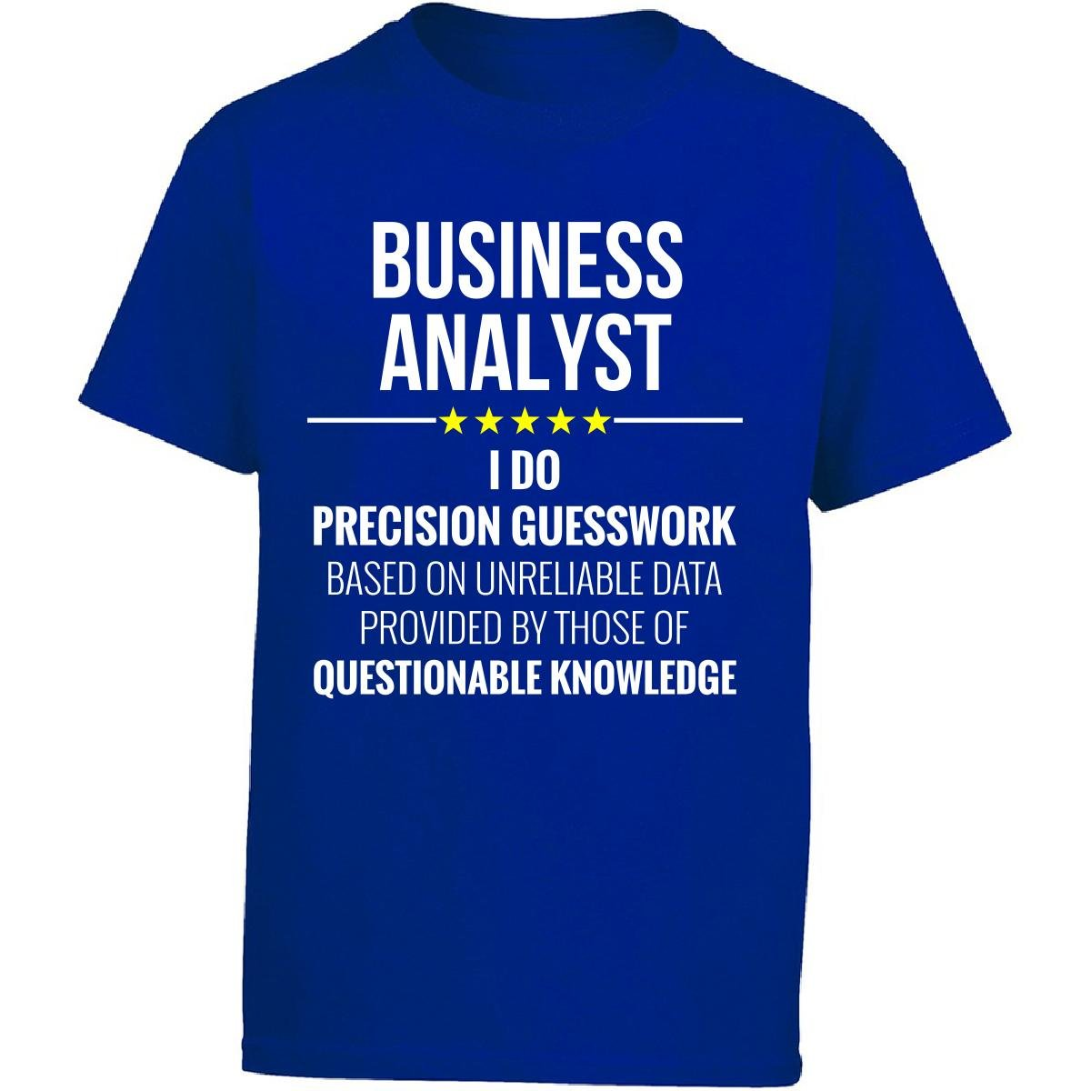 Business Analyst I Do Precision Guesswork Gift - Girl Kids T-Shirt Kids XL Royal