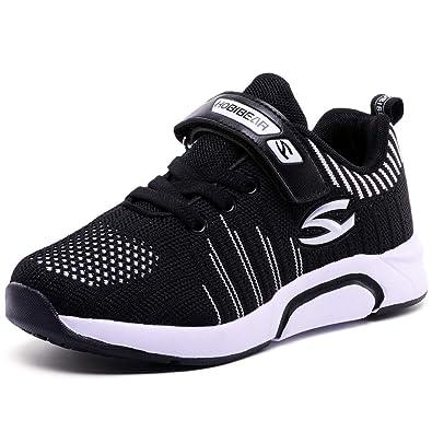 3b61c6121a30f GUFANSI Turnschuhe Kinder Sneaker Jungen Sportschuhe Mädchen Hallenschuhe  Outdoor Laufschuhe für Unisex-Kinder Schwarz 26