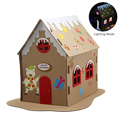 Pica Toys DIY 3D House with Light Creative Science Stem Building Kit - STEM DIY Experiment for Kids, Teens and Adults: Toys & Games