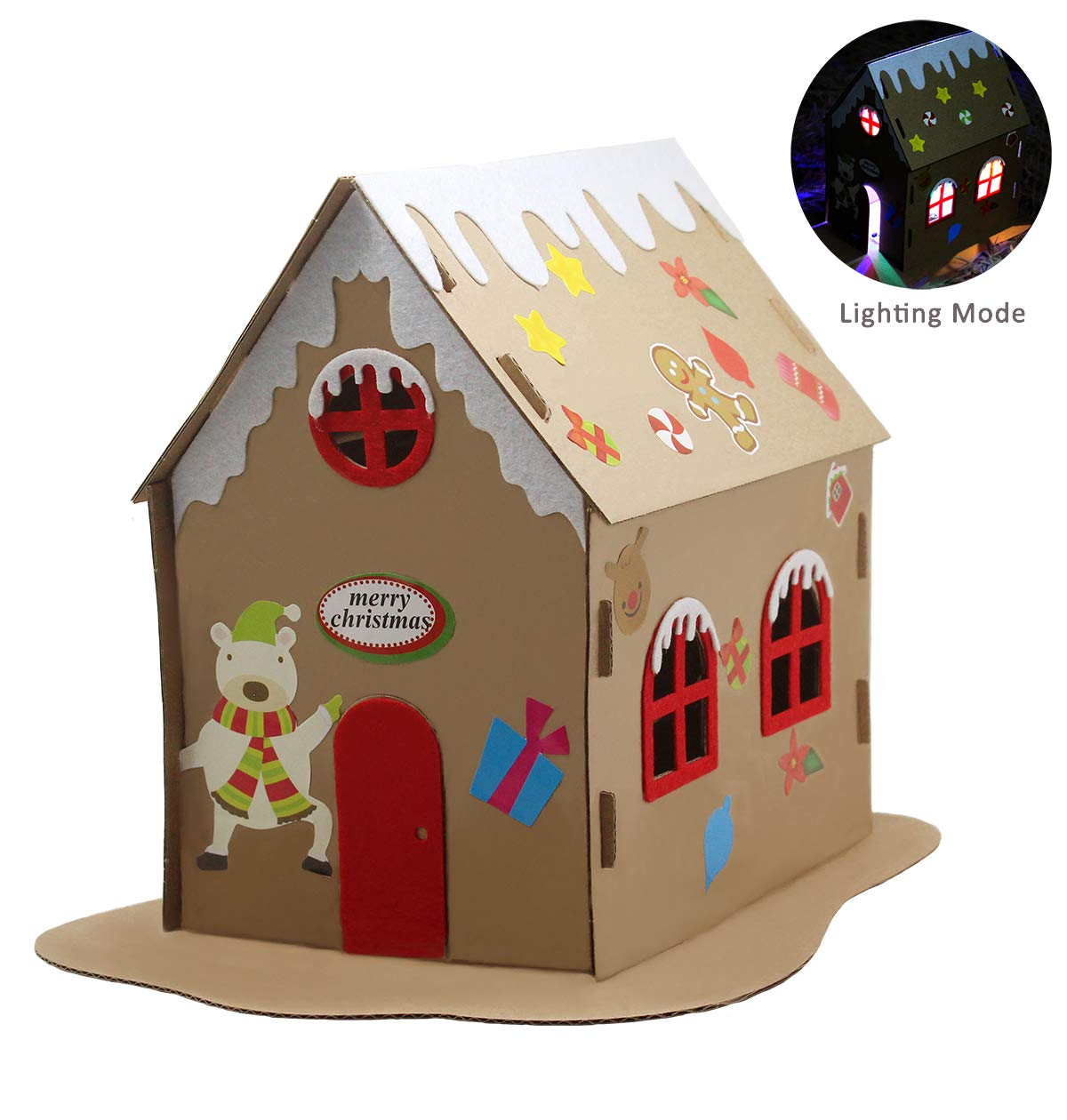 Pica Toys DIY Christmas House with Light Creative Science Stem Building Kit - STEM DIY Experiment for Kids, Teens and Adults