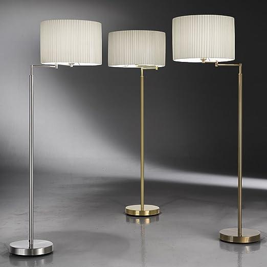 Kolarz exclusiva - Lámpara de pie (latón, pantalla Arrugas, E27 ...