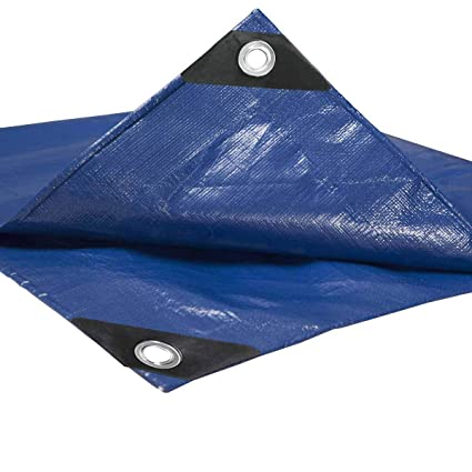 Bootsplane Gewebe Plane mit Ösen für Gartenmöbel wasserdicht reißfest Blau