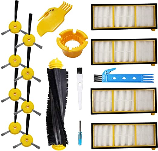 Replacement Filter /& Side Brush Kit for Shark ION RV700 RV720 RV750 Robot Vacuum