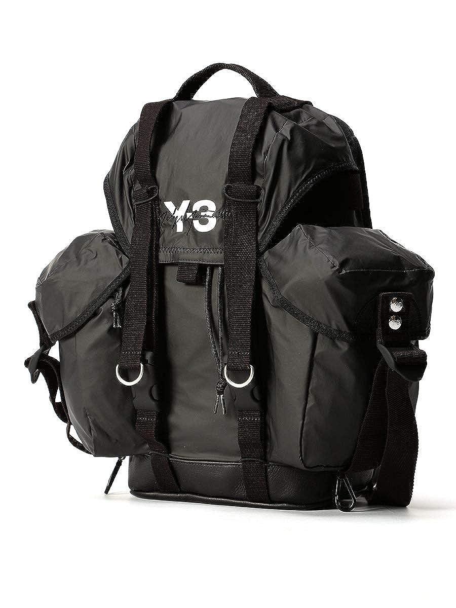 (ワイスリー) Y-3 ロゴプリント サイドポケット バックパック XS UTILITY BAG [Y3DY0513] [並行輸入品] B07NG2Z1VJ ブラック