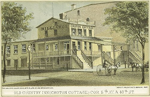 - Historic Pictoric 1828 Print | Old country inn (Croton Cottage) cor. 5th Av. & 40th St. | Vintage Wall Art | 44in x 30in