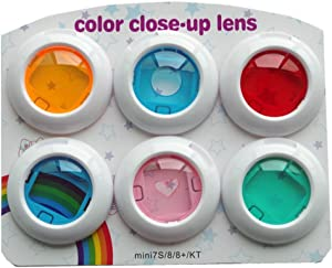 HAFOKO Mini Close Up Color Colorful Lens Filter Set Compatible para Fujifilm Instax Mini 8/8 + / 9 cámara de película instantánea, 6 Piezas