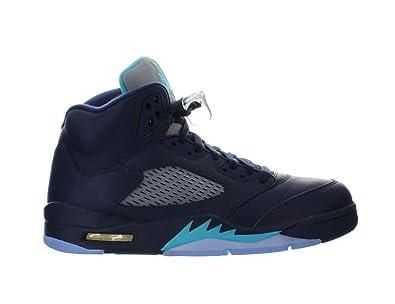eac8c7b56a5 7d725 8e40b; new style nike jordan mens air jordan 5 retro midnight navy  trqs blue white basketball shoe