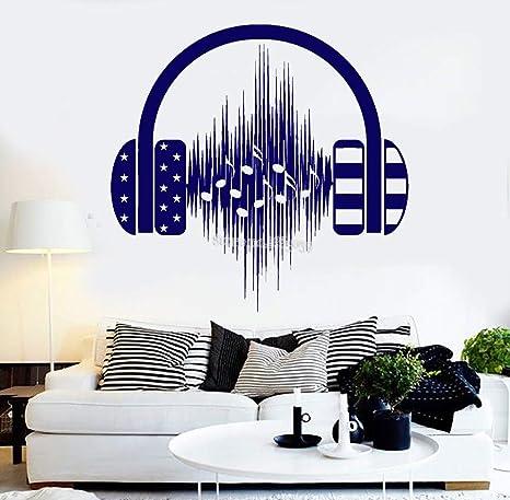 Pegatinas de pared Auriculares pegatinas de música pegatinas de ...