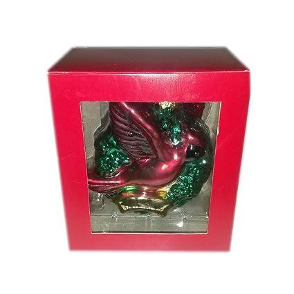 amazon com cardinal the state bird of illinois glass ornament