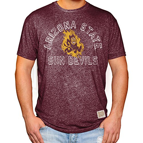 Elite Fan Shop Arizona State Sun Devils Retro Tshirt Maroon - XXL
