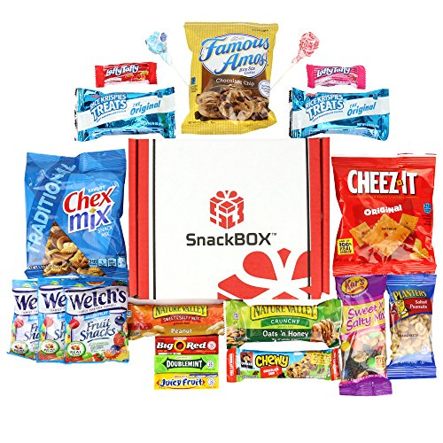 Vending Package - Care Package for College Students, Military, Fathers Day, Birthday, Office Snacks and Back to School with Chips, Cookies and Candy (20 Count) From SnackBOX