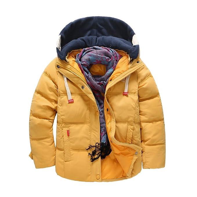 f91f08d46 YanHoo Ropa para niños Chaqueta Abrigada a Prueba de Viento Winter Boy  Children s Warm Cotton Kids