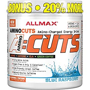 AllMax Amino Cuts - Amino Charged Energy Drink - Blue Raspberry - (36 serve) 252g