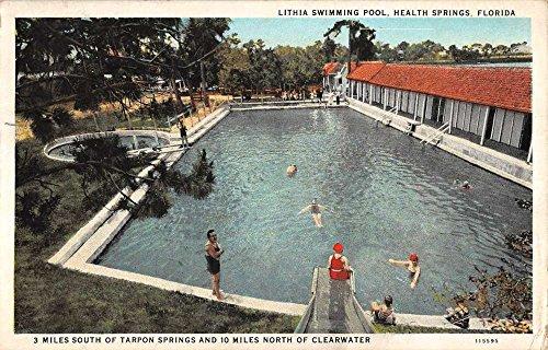 (Health Springs Florida Lithia Swimming Pool Antique Postcard K85328)