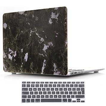 SUNWAY Macbook Air Funda de 11.6 Pulgadas y Teclado Membrana, Ultra Fino Hermosa Mármol Funda rígida con Teclado Membrana para Macbook Air 11.6 ...