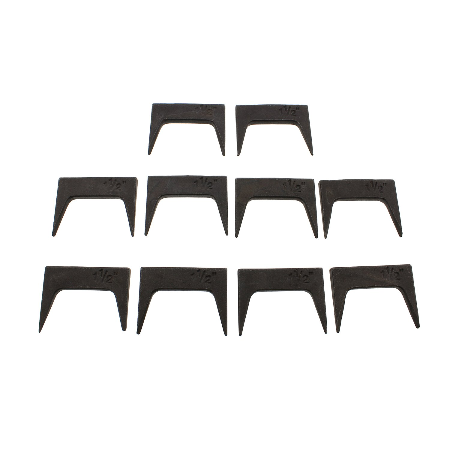 """DCT Wood Clamps, 1.5"""" Inch Pinch Clamp Pinch Dog 10-Piece Set for Woodworking Wood Glue Up Gluing Table Panel Pinch Dogs"""