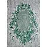 "Linen Green Jacquard Glass Large 31"" x 22"" Tea Towel by Ulster Linen"