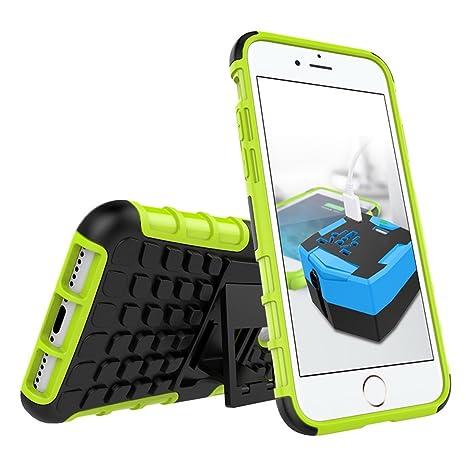 Funda iPhone 7, protectora resistente Armorbox doble capa iPhone 7 cajas del teléfono con cubierta