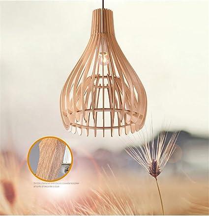 Suspensión Luminaire madera I Natural lustre madera lámpara de ...
