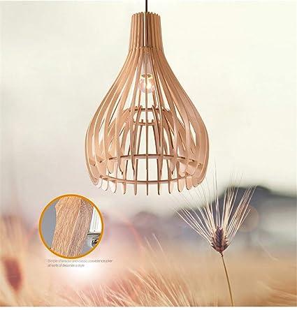 Luminaire madera madera lámpara I Natural Suspensión lustre NPOw0knX8