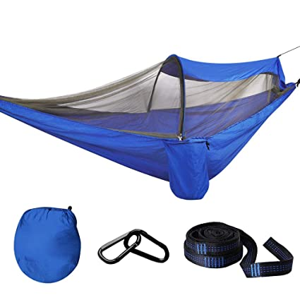 Double Person Hammock Travel Outdoor Garden Camping Hanging Bed Mosquito Net