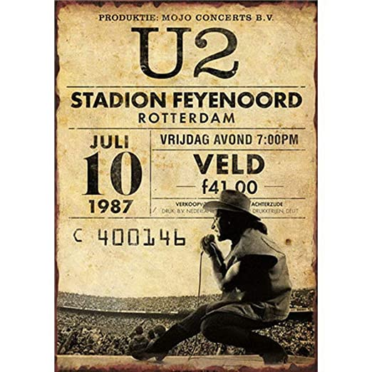 HALEY GAINES U2 Stadion Feyenoord Rotterdam Placa Cartel ...